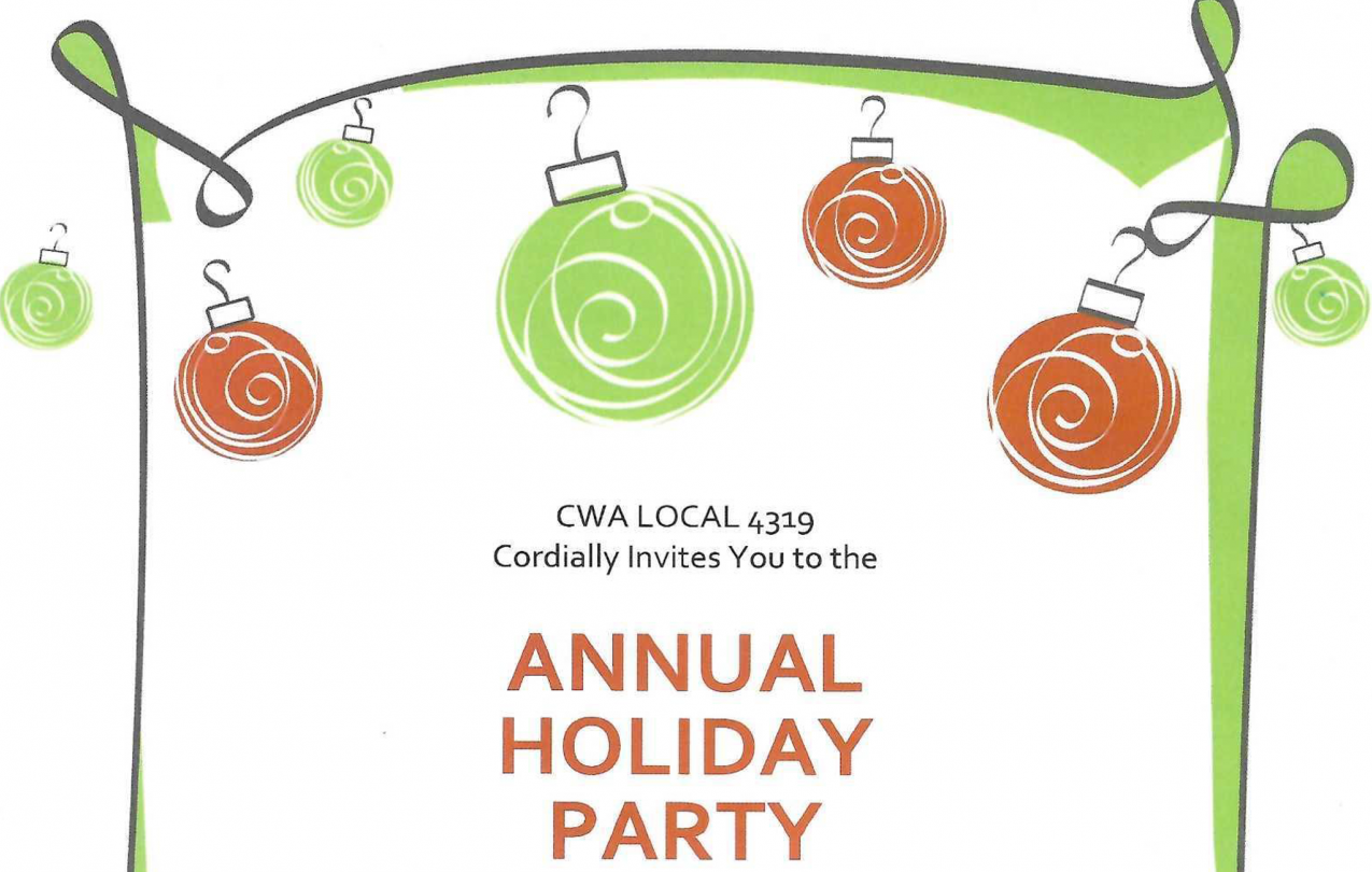 CWA Local 4319 Annual Holiday Party 2021
