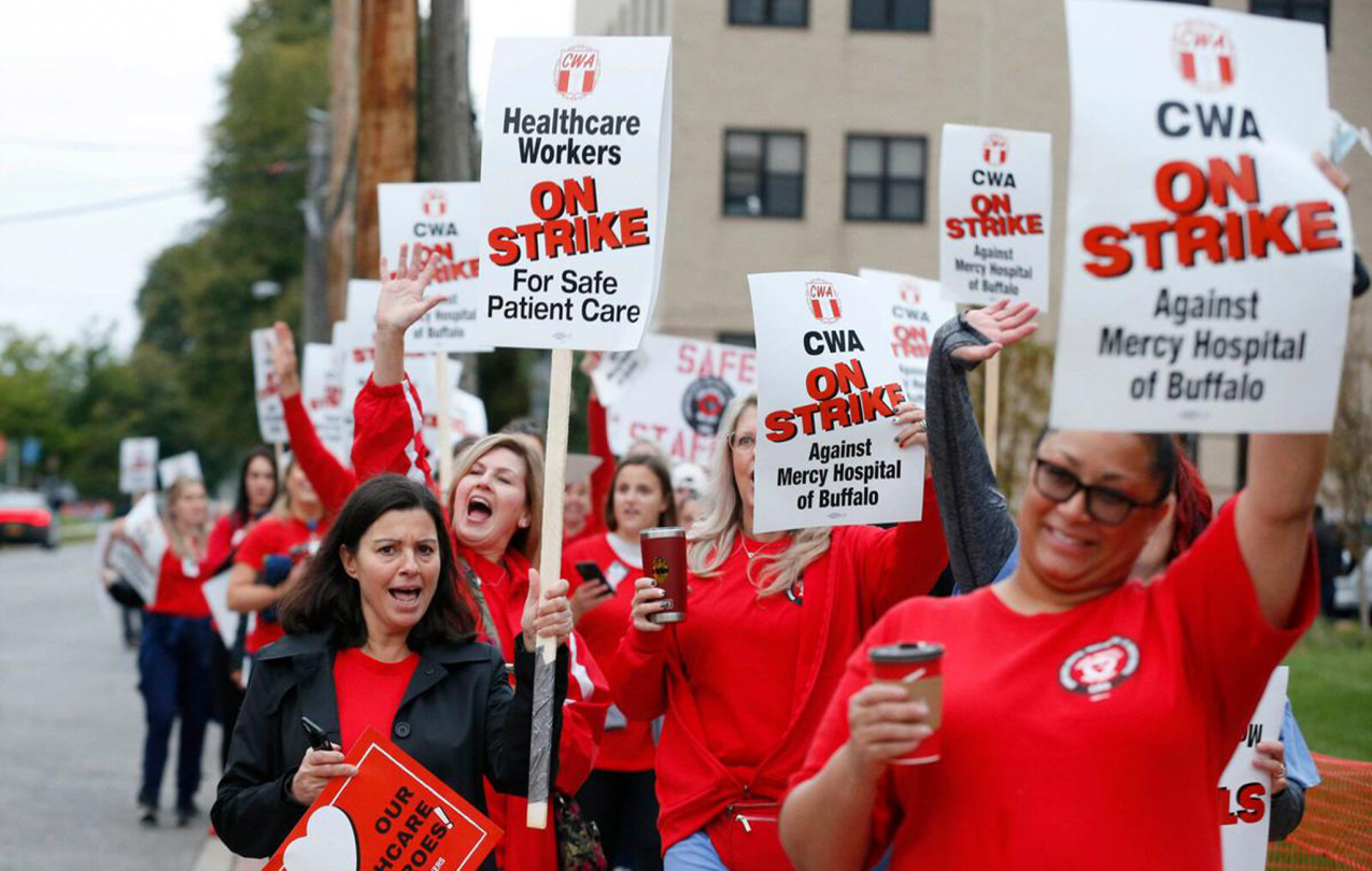 CWA members at Mercy Hospital in Buffalo, NY are demanding safety and quality!