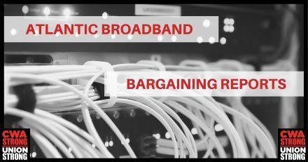 Cable wires with Atlantic Broadband Bargaining Reports text
