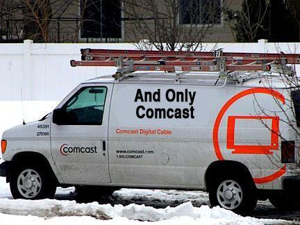 Comcast Truck in the snow