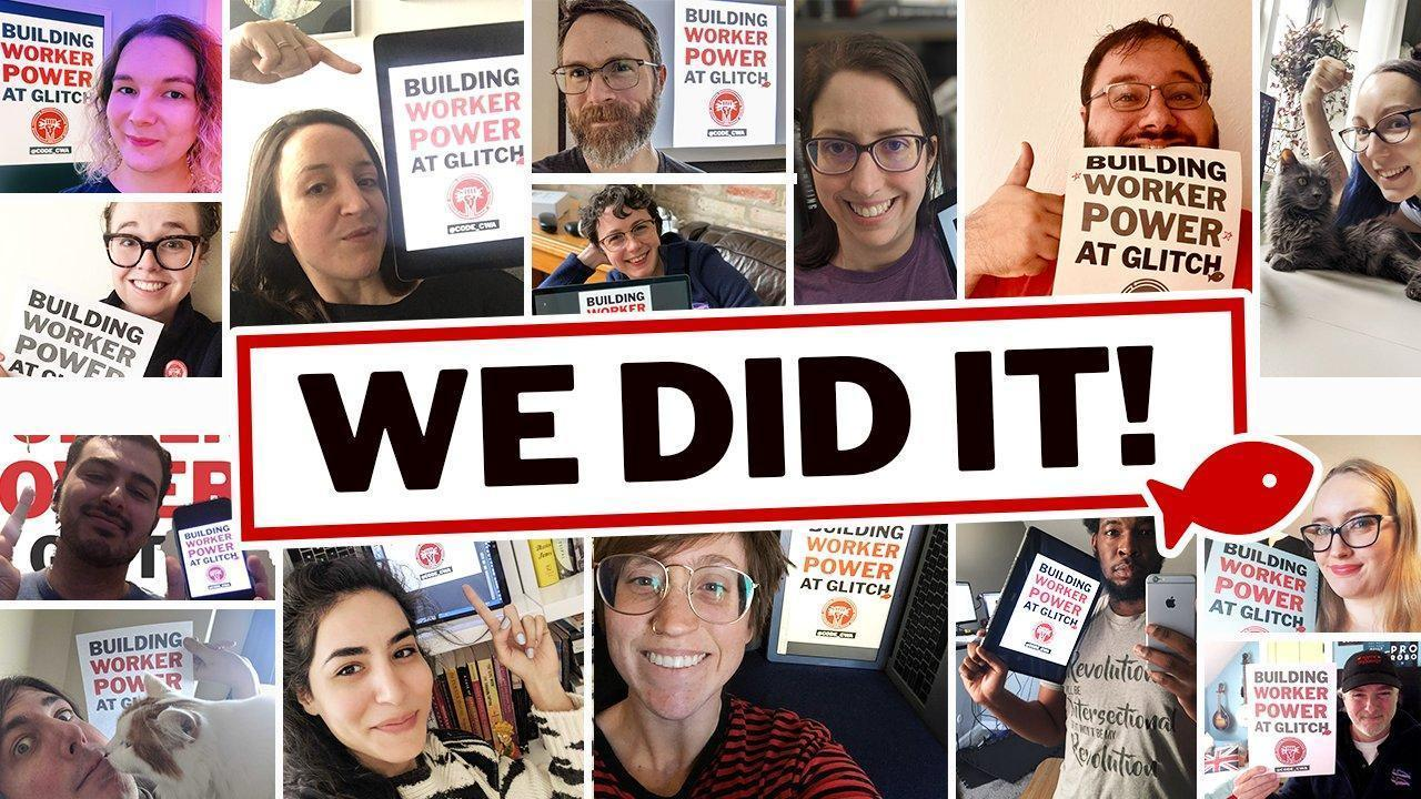 Glitch Workers Organize with CODE-CWA to Make Tech History!