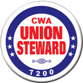 union steward button
