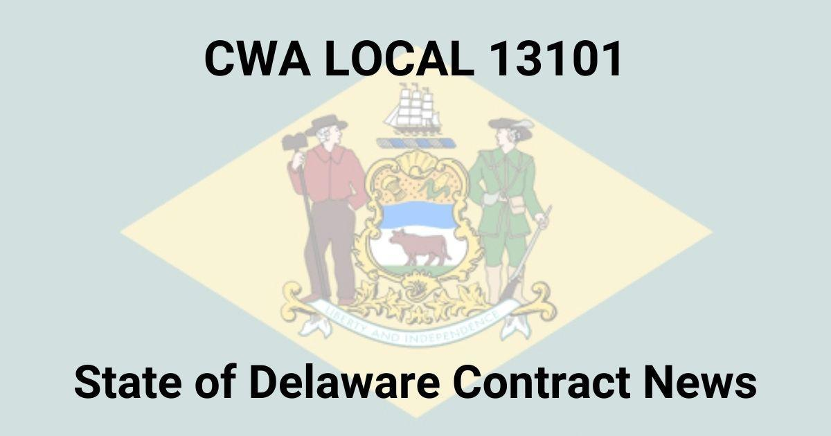State of Delaware Flag with News title
