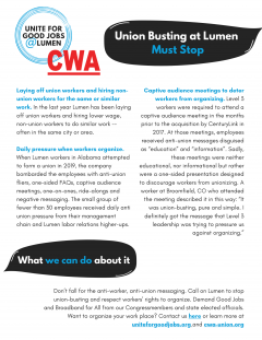 Png of Union Busting at Lumen stories--download pdf with link below for readable text.